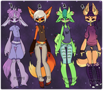 Anthro Adopts 2 [2/4 Open] by palepuppii