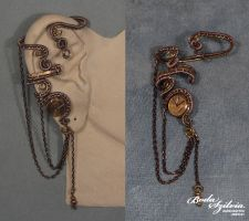 Steampunk queen ear wrap variation by bodaszilvia