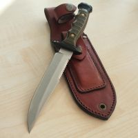 New Leather Sheath for my Old Camping Knife by Altug