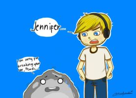 Jennifer and Pewdiepie by ChelseaMenda