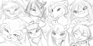 Expression Sketches 33-40 by StampyDragon