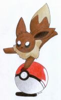 Eevee and Pokeball by Togechu