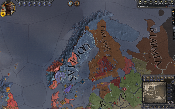 January 1st, 850 - Scandinavia in crusader kings 2 by aruon