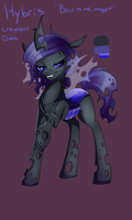 Changeling OC - Hybris, Queen without a Crown by WhiteNoiseGhost