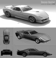 DH-1 muscle car concept by xiiid
