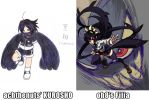 Totally Looks Like: Kurosho vs. Filia by ACH-theNUTS