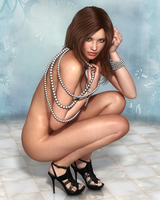 Wearing nothing but pearls by Lastonedown