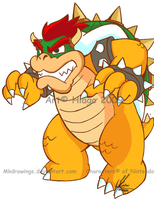 Bowser 2 by MKDrawings