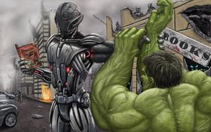 Ultron vs Hulk by WinterMute-MtH