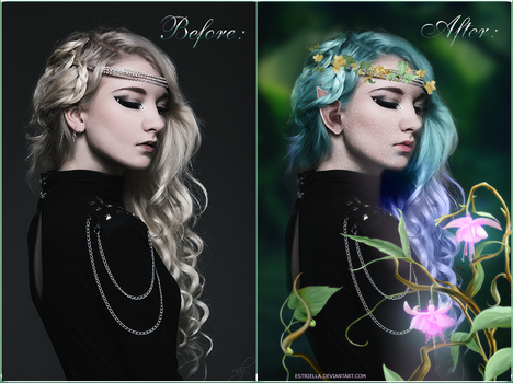 Royal Elleth Before and After by Estriella
