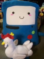 BMO and Lorraine plush by PollyRockets