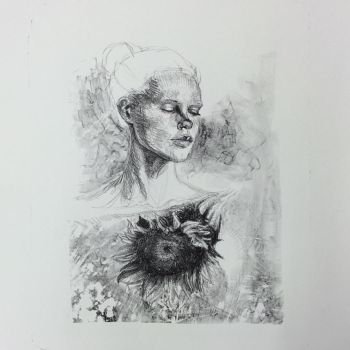 girl with flower by ATCdW