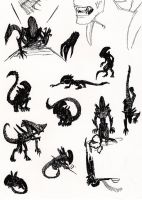 Xenomorph Silhouettes by Res-Gestae