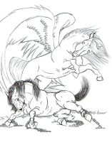 Your Guardian Angel LINE ART by AlmightyShadow