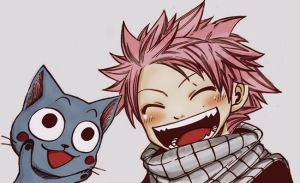 Natsu and Happy by Reila-is-Love