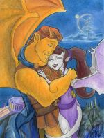 Herc and Meg Gargoyles by Nebulan