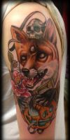 Fox halloween sleeve progress by WillemXSM