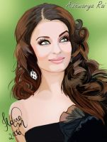 Aishwarya Rai Fanart by angelmisty