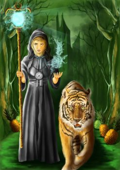 tiger and the witch by wenpriandy