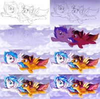 Art Trade with EmR0304 .:Progression:. by AlicornParty