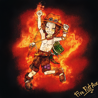 Fire Fist Ace Chibi by KiraiRei