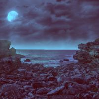 Rocky Beach Premade Background by VIRGOLINEDANCER1