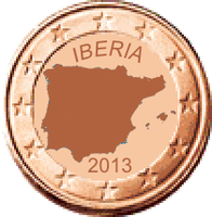 Iberian coin 1 cent by hosmich