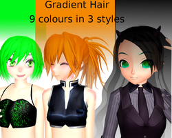 Gradient Hair Pack Download by Neverlia