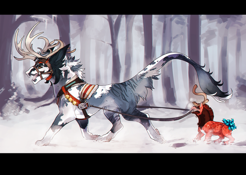 dashing through the snow completed by Dragonpunk15