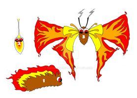 Fire Moth Pokemon by haha-tommy
