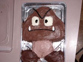 Goomba Cake by Digital-Twilight