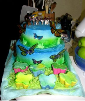 Butterfly cake by hsawaknow