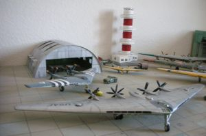 A diorama of all-wing craft 2 by Rekalnus
