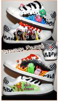 Custom shoes by pOisoned-Dream