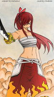 Fairy Tail 315 - Erza Scarlet by strabixio
