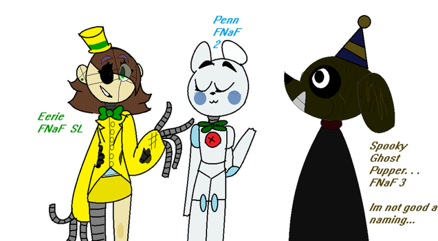 Old/cringy FNaF Ocs I made long ago. . . by MBC-MonsterBlueCat