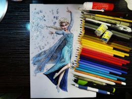 Queen Elsa of Arendelle by Williaaaaaam