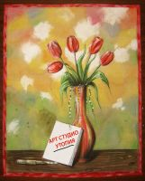 Tulips - water color by ivita-iva
