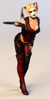 Harley Quinn 3DS Render by x2gon