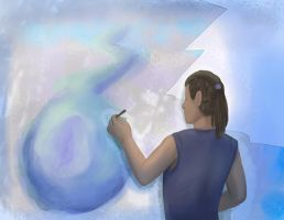 Painting a worldFinal by SaraV-Art