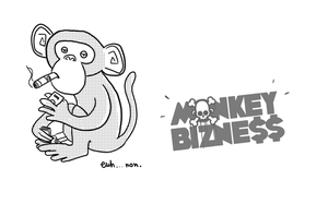 Monkey bizness illustration by WarrioGirl