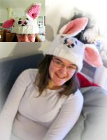 Bunny Rabbit Hat by Creativity-Squared