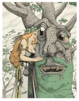 Druantia and the Oak by jessehbechtold