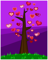 Vector: The Tree of Hearts by DinDeen