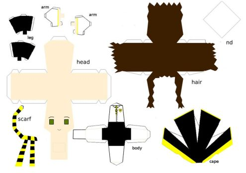 hufflepuff papercraft template by randommanatee