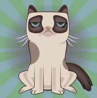 Grumpy Cat Vetcor by Ironpotato
