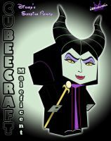 Maleficent Cubeecraft 3d by SKGaleana by SKGaleana