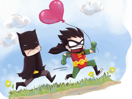 V-day for Batman and Robin by Moritsu