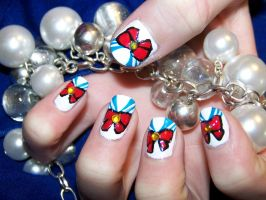 Nail Art: Sailor Moon :D by FrostingQueenie