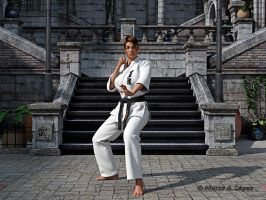 guard Karate ( esther) by bues